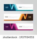 vector abstract banner design... | Shutterstock .eps vector #1937934553