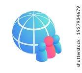 globe people  global teamwork... | Shutterstock .eps vector #1937934679