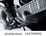playing notes on a blues guitar | Shutterstock . vector #193793990