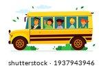 children on the school bus  ... | Shutterstock .eps vector #1937943946