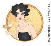 art deco vintage illustration... | Shutterstock .eps vector #1937947453