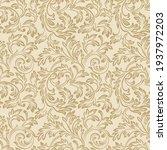 baroque wallpaper. seamless... | Shutterstock .eps vector #1937972203