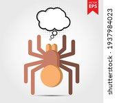 spider with thought bubble...