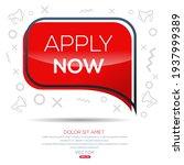 creative  apply now  text... | Shutterstock .eps vector #1937999389