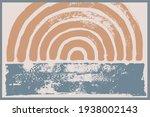 modern contemporary  wall art ...   Shutterstock .eps vector #1938002143