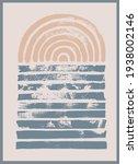 modern contemporary  wall art ... | Shutterstock .eps vector #1938002146