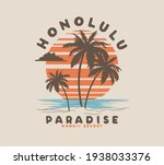 vector tropical palm tree... | Shutterstock .eps vector #1938033376