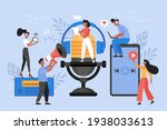 podcast or audio online... | Shutterstock .eps vector #1938033613