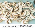Sliced Mushrooms On A Chopping...