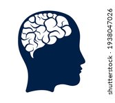head with brain vector...   Shutterstock .eps vector #1938047026
