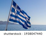 Flag Of Greece On A Cruise Ship ...