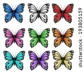 seamless pattern with colorful... | Shutterstock . vector #193805159