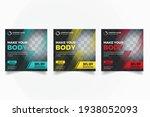 gym fitness social media banner ... | Shutterstock .eps vector #1938052093