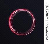 luminous vibrant neon circle...   Shutterstock .eps vector #1938054763