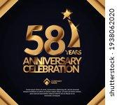 58 years anniversary... | Shutterstock .eps vector #1938062020