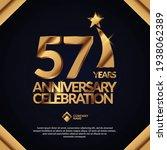 57 years anniversary... | Shutterstock .eps vector #1938062389