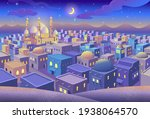 panorama of ancient arab city...   Shutterstock .eps vector #1938064570