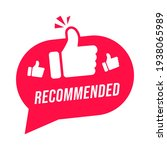 modern label recommended with... | Shutterstock .eps vector #1938065989