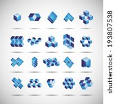 set 3d cubes icon  vector eps10 | Shutterstock .eps vector #193807538