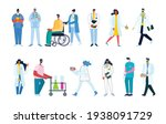 group of doctors and nurses and ... | Shutterstock .eps vector #1938091729