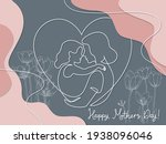 happy mother day card. woman... | Shutterstock .eps vector #1938096046