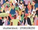 crowd of different...   Shutterstock .eps vector #1938108250
