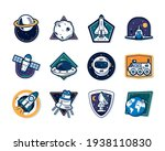 space insignias set on...   Shutterstock .eps vector #1938110830
