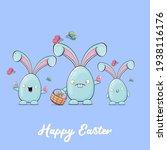 cartoon funny cartoon blue...   Shutterstock .eps vector #1938116176