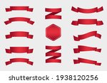 pack of simple ribbons with red ...   Shutterstock .eps vector #1938120256