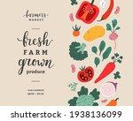 farmers market flyer design ... | Shutterstock .eps vector #1938136099