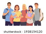 group of young girls and boys...   Shutterstock .eps vector #1938154120
