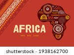 africa patterned map. banner... | Shutterstock .eps vector #1938162700