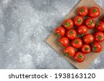 Bunch Of Red Fresh Tomatoes...