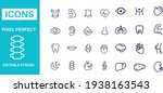 healthy lifestyle icons vector... | Shutterstock .eps vector #1938163543