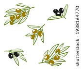 olives set. collection icon... | Shutterstock .eps vector #1938164770