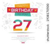 creative happy birthday to you... | Shutterstock .eps vector #1938170500