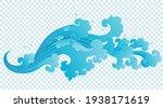 thai art water splash isolated... | Shutterstock .eps vector #1938171619