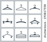 Hangers Vector Icons Set