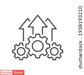 operational excellence line... | Shutterstock .eps vector #1938193210
