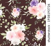 beautiful hand drawn floral... | Shutterstock .eps vector #1938193726