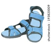 mens sandals blue isolated... | Shutterstock . vector #193820009
