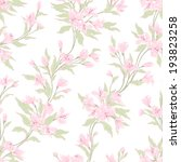 stylish vintage floral seamless ... | Shutterstock . vector #193823258
