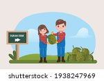 agriculturist character with... | Shutterstock .eps vector #1938247969