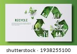 recycle symbol  many people... | Shutterstock .eps vector #1938255100