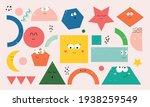 set of cartoon basic geometric... | Shutterstock .eps vector #1938259549