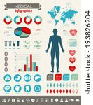 medical infographics with many... | Shutterstock .eps vector #193826204