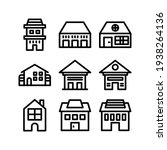 lodging icon or logo isolated...   Shutterstock .eps vector #1938264136
