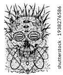 black and white horror...   Shutterstock .eps vector #1938276586