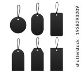 blank black paper price tags or ...   Shutterstock .eps vector #1938293209