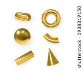 vector 3d geometric objects....   Shutterstock .eps vector #1938319150